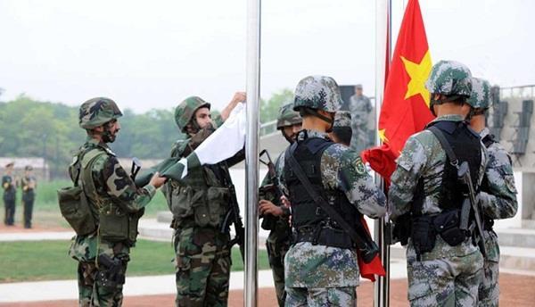 china and pakistan  joint war games  india