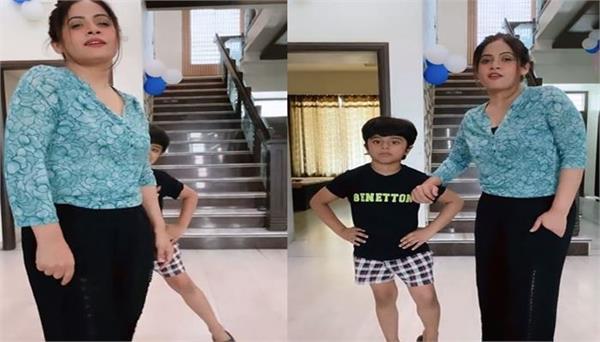 miss pooja shared beautiful video  aunt nephew  s dance