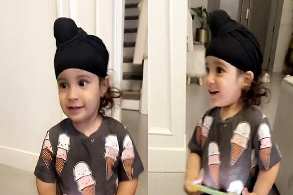 gippy grewal shared a beautiful video of his youngest son gurbaz grewal