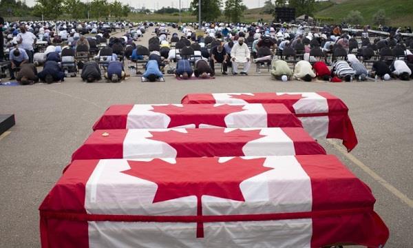 canada  muslim family  last farewells  honors  rallies