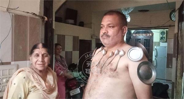 after corona vaccinine jalandhar man become magnet