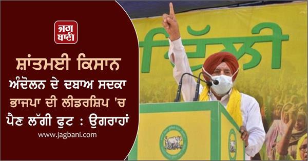 bjp s leadership begins to falter due to pressure peasant agitation