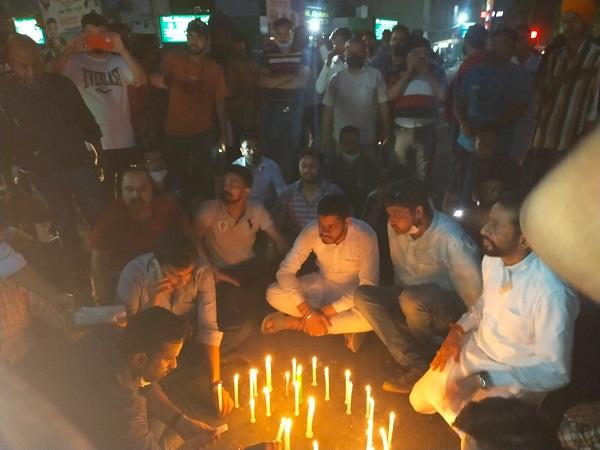 hundreds take out candlelight march in protest of sachin jain  s death