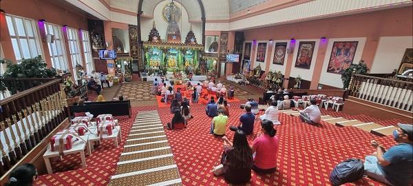 15th anniversary of idol establishment day at hindu temple glasgow