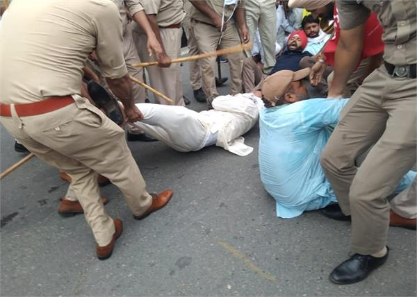 bathinda manpreet badal contract employees arrested