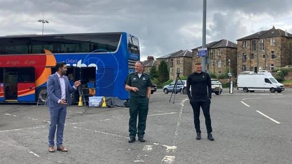 scotland  corona vaccine bus administered 10 000 doses of vaccine