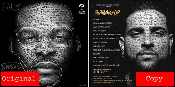 karan aujla album poster copy controversy