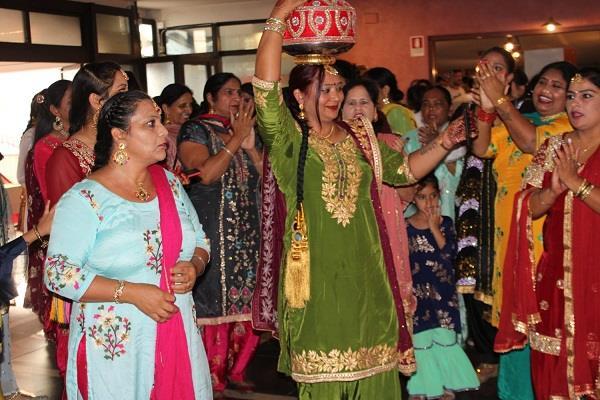 tiyan festival celebrated by punjabi girls in italy