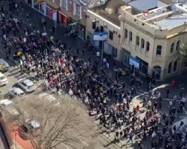 thousands of protesters took to the streets to protest the lockdown
