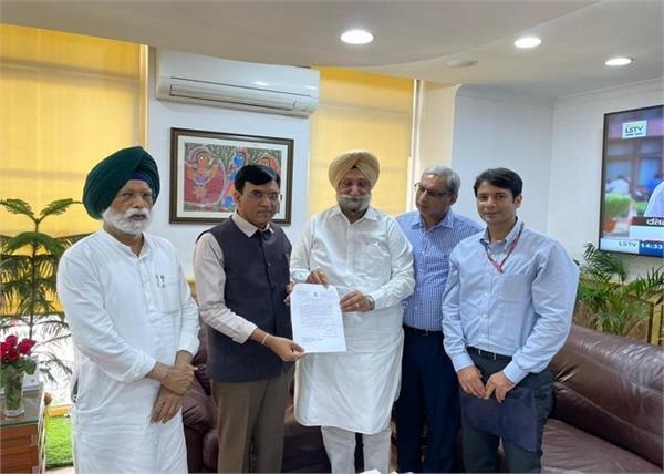 sukhjinder singh randhawa chandigarh union minister for fertilizers