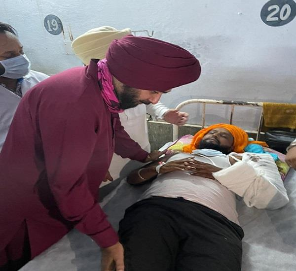 navjot sidhu arrives at moga government hospital known