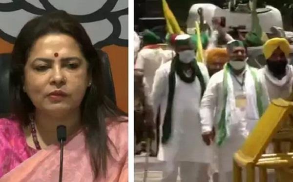 meenakshi lekhi apologizes for controversial remarks on farmers mukesh sharma