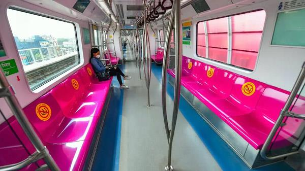 dmrc to open grey line extension  pink line segment on august 6