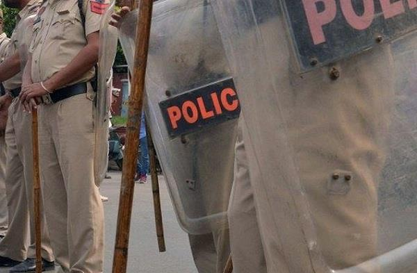 police party  assault  accused
