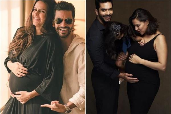happy birthday to angad bedi  s wife neha dhupia by posting a lovely post