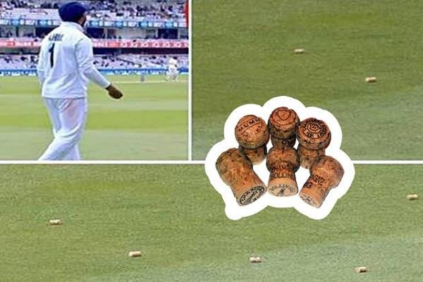 england fans throw champagne   covers   on kl rahul