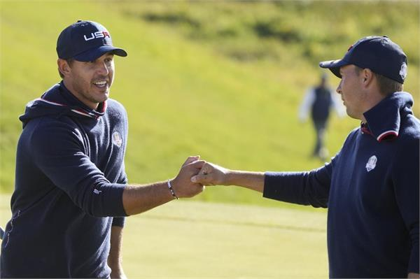 ryder cup  us lead