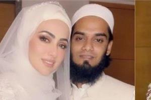 sana khan got married to maulana  who called her sister