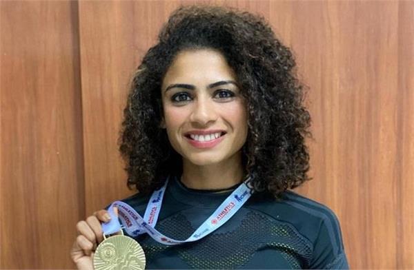 harmilan bains also wins 800m race  aishwarya wins gold in triple jump