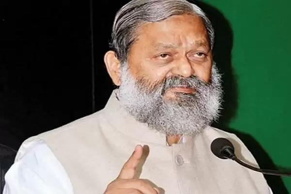 haryana minister anil vij admitted to aiims