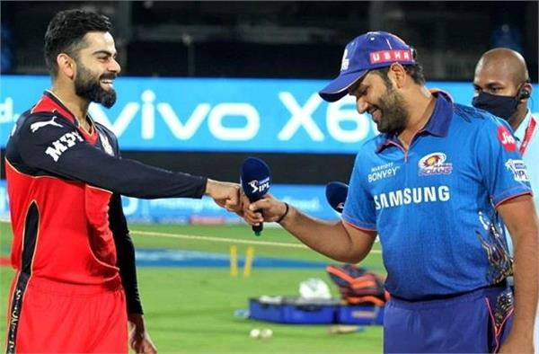rcb vs mi get to know the head to head pitch report and playing xi