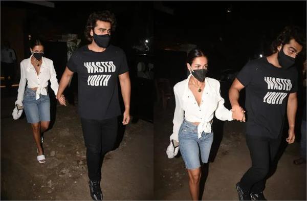 malaika arora goes out on dinner date holding boyfriend arjun kapoor  s hand