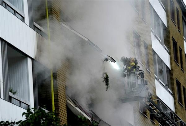 explosion in swedish residential building  20 injured