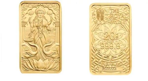 uk royal mint releases golden biscuit featuring hindu goddess