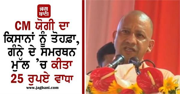 yogi adityanath sugarcane msp increase