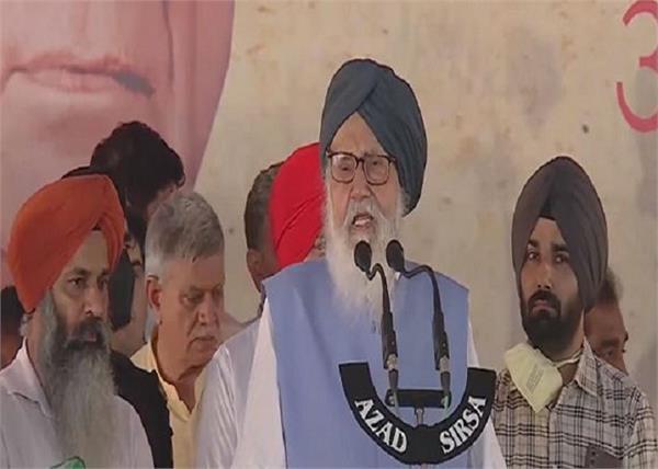 parkash singh badal in jind rally