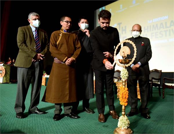 union minister anurag thakur inaugurates first himalayan film festival ladakh