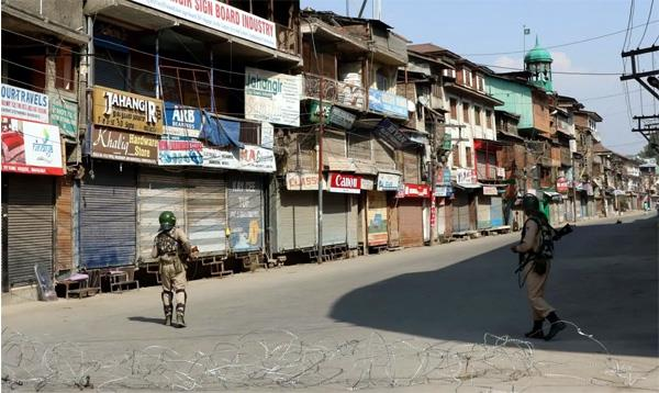 a 10 day curfew has been imposed in some parts of srinagar