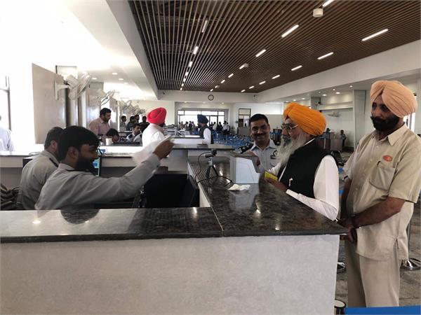 pilgrims visiting kartarpur sahib